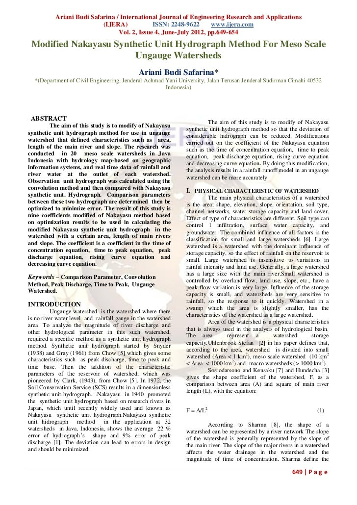 Ariani Budi Safarina / International Journal of Engineering Research and Applications                           (IJERA)   ...
