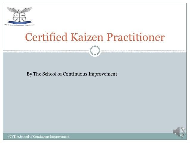 Certified kaizen practitioner v1.0