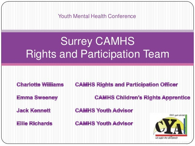 Surrey CAMHS Rights and Participation Team Youth Mental Health Conference