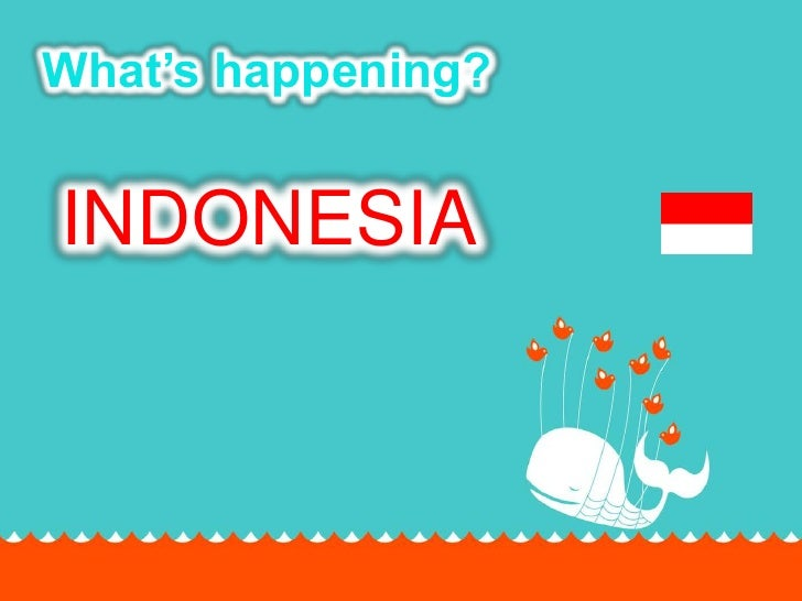 What's happening?<br />INDONESIA<br />