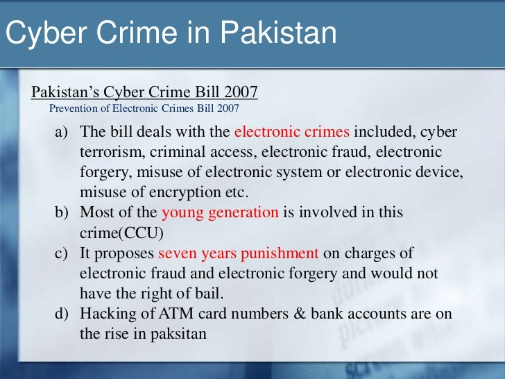 crime in pakistan essay Cyber crime in pakistan research report - download as word doc (doc / docx), pdf file (pdf), text file (txt) or read online.