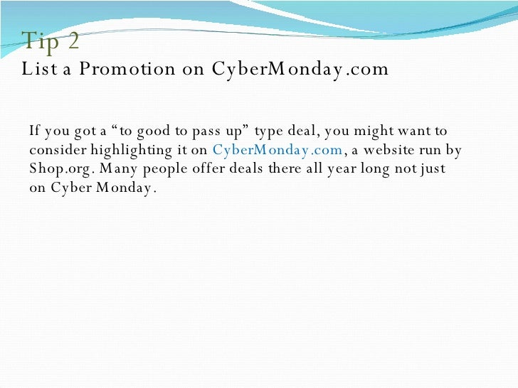 7 Marketing Tips from Devil to Capture  Every Penny On Cyber Monday Slide 3