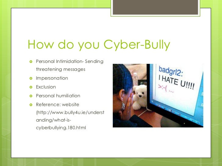 bullying in social networks Cyberbullying is easily seen and more accessible on social media sites just  because of the social freedoms that the sites allow us to have.