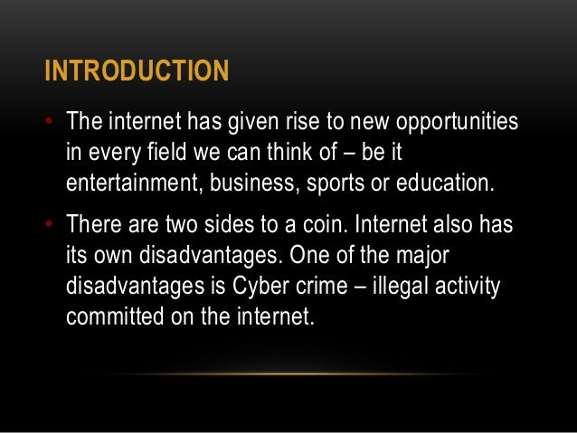 The manifestations of cyber crime