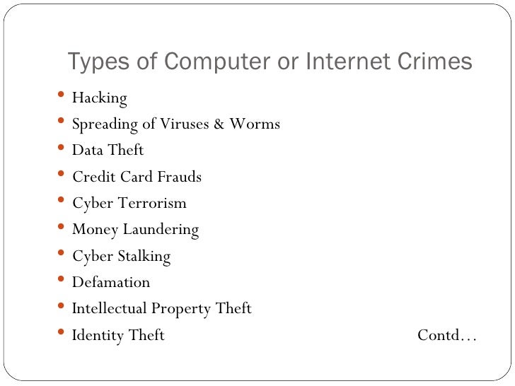 overview of computer internet crimes in