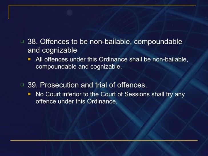 compoundable and non compoundable offences Cognizable offence - criminal procedure code(crpc) cognizable offence - criminal procedure code are non-compoundable offences.