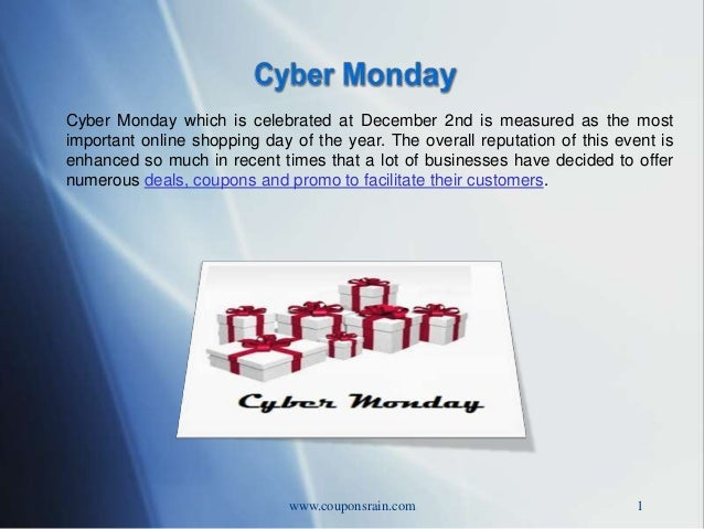 Cyber Monday which is celebrated at December 2nd is measured as the most important online shopping day of the year. The ov...