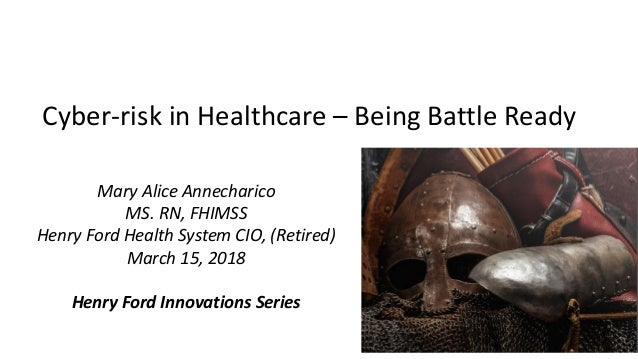 mHealth Israel_Cyber Risk in Healthcare_Mary Alice