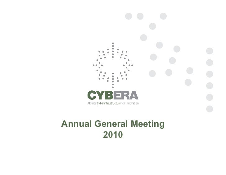 Annual General Meeting        2010