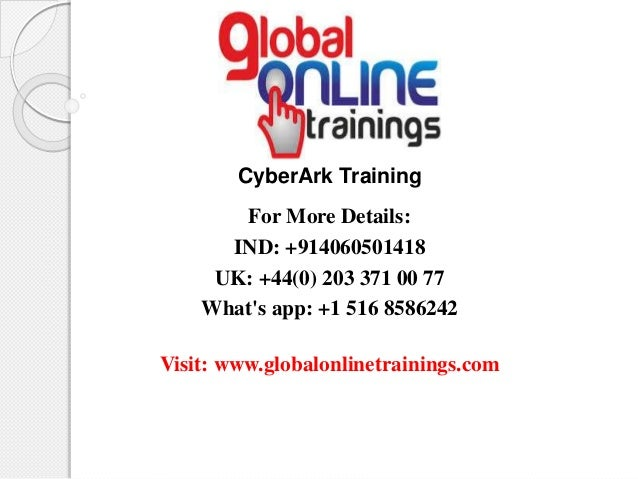 Cyberark training ppt