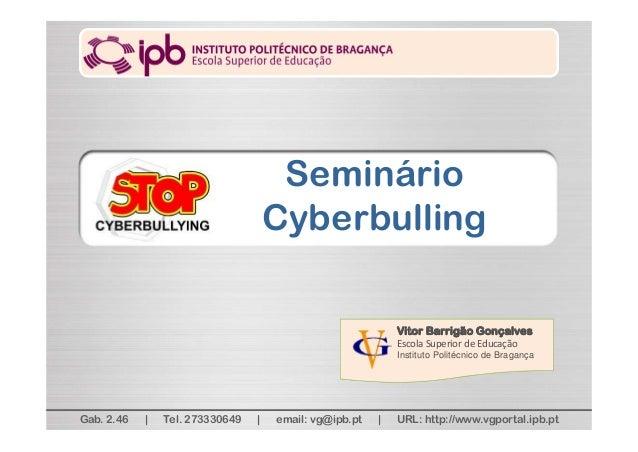 Vitor Barrigão Gonçalves EscolaSuperiordeEducação Instituto Politécnico de Bragança Gab. 2.46 | Tel. 273330649 | email:...