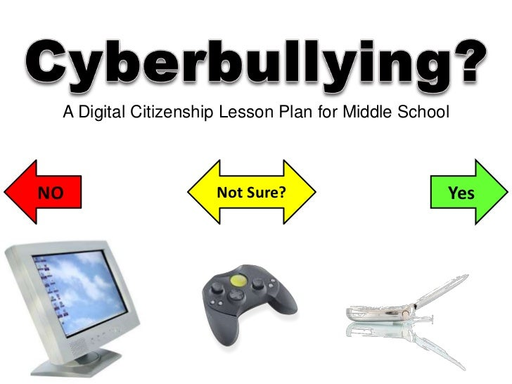 Cyberbullying?<br />A Digital Citizenship Lesson Plan for Middle School<br />NO<br />Yes<br />Not Sure?<br />