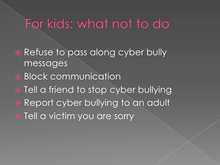 Prevention in schools<br />Develop rules<br />Hold assemblies<br />Create fliers<br />Share anti-cyber bullying messages<b...