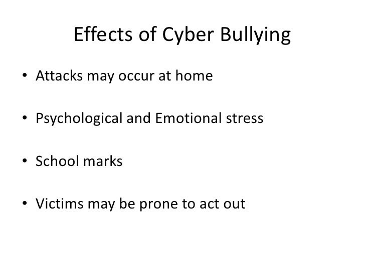 Psychological effects of cyberbullying