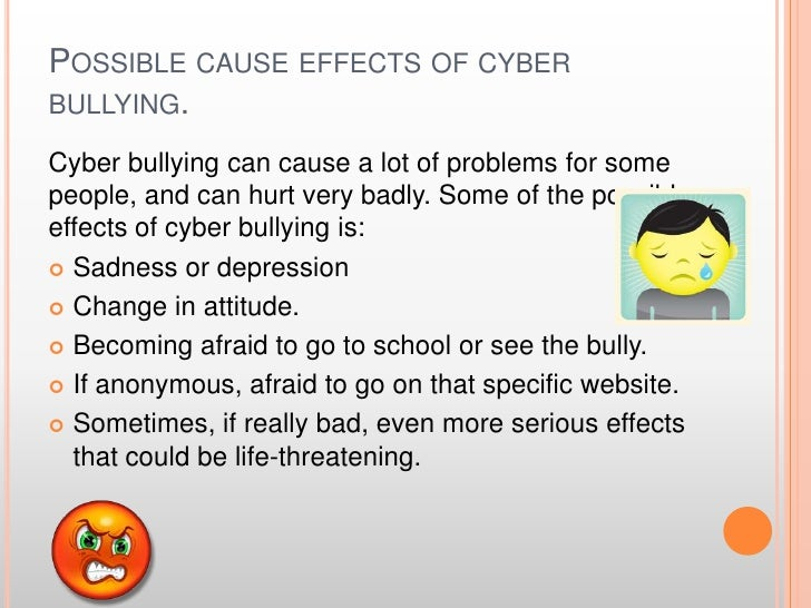 effects of bullying and a solution essay This shows us what effects bullying done outside of the school has on students emotionally and physically [tags: cyber bullying essay] 1336 words.
