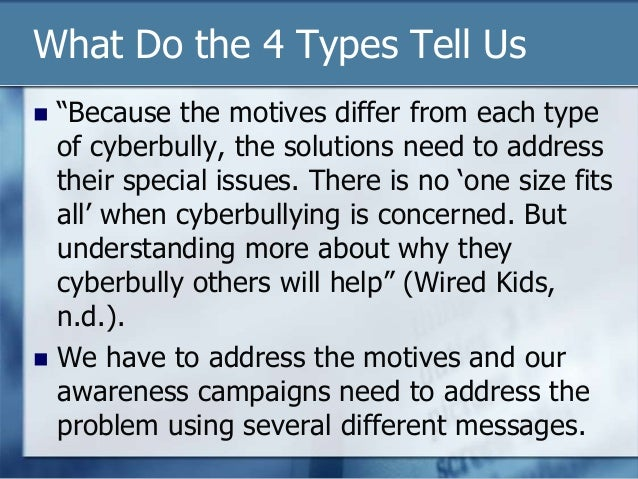 the different types of bullying and solutions to address the problem Bring a focus on a critical 21st century skill into your classroom with this no-nonsense guide to teaching problem-solving this article includes strategies for your students such as understanding the problem, identifying various solutions, developing a.