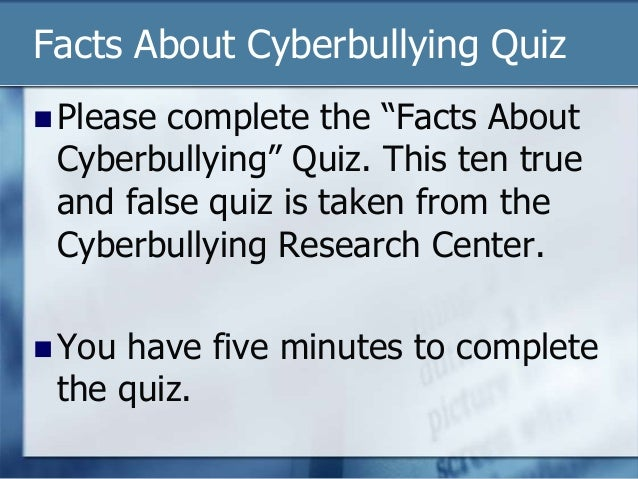 5 facts on cyberbullying