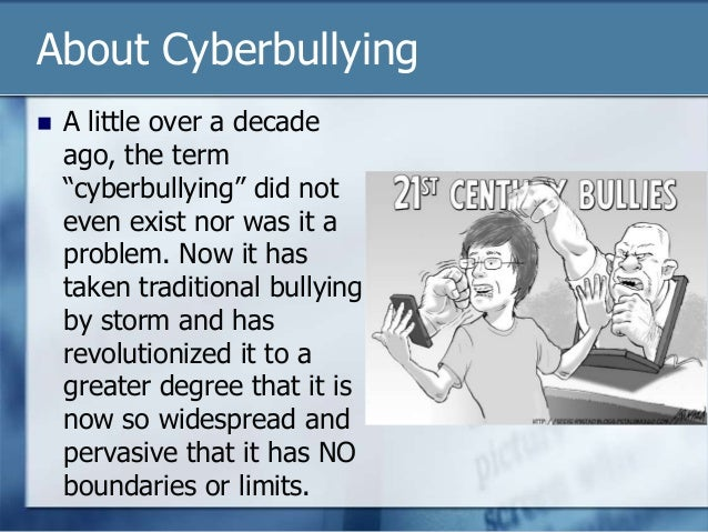 When did cyberbullying first become an issue