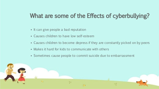 the causes and effects of cyberbullying A number of studies reveal the lasting effects of bullying on both the bullied and the bullies themselves.