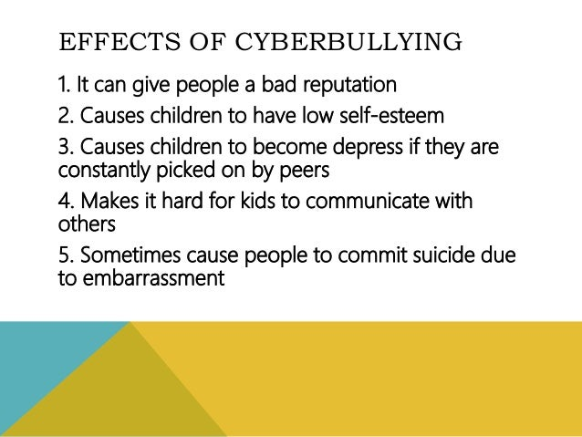 the causes and effects of cyberbullying Cyberbullying can have drastic effects on youth especially those who are psychologically vulnerable or dealing with stressful life situations cyberbullying does not affect everyone the same outside factors can contribute to the responses of those who are cyberbullied the list below contains some.