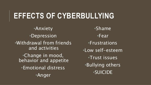 Cyber bullying and anxiety