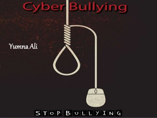 cyber bullies should be prosecuted