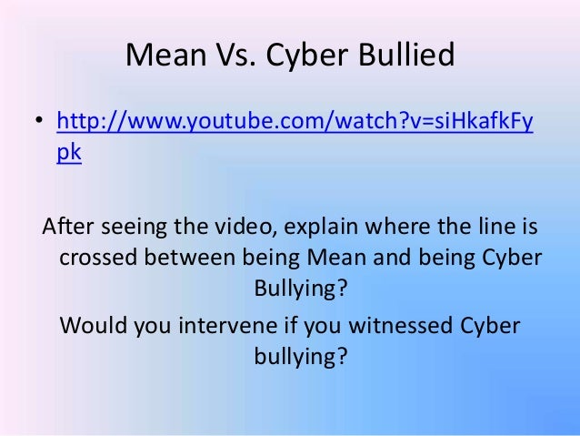 """point of view on cyber bullying What is cyber bullying and do you know that it can cause death well lets take the initiative to look in to it together first, cyber bullying is basically """"when people use the internet or other means of electronic communication to send messages with the intent to hurt or embarrass other people""""."""