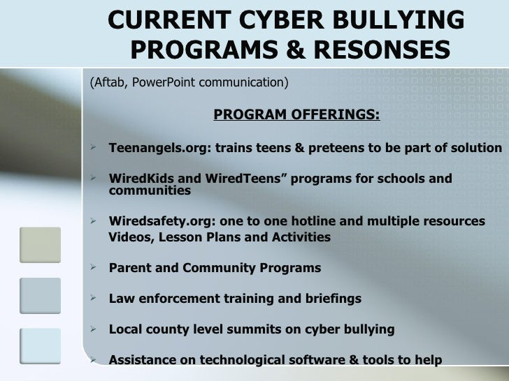 cyber bullying solution Cyber bullying resources solution center: cyber bullying safety : education cyber-bullying is spreading like a pandemic on the internet half us teens report being.