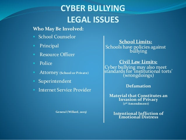 prosecuting cyber bullying Brown - investigating and prosecuting cyber crime: forensic dependencies and barriers to justice international journal of cyber criminology.