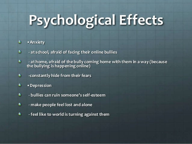 Side effects of cyberbullying