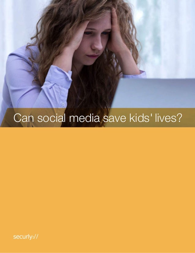 Can social media save kids' lives?Can social media save kids' lives?