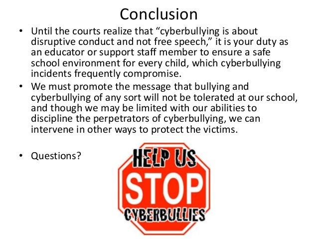 cyberbullying speech The worst restrictions on freedom of speech often arise from the best of intentions case in point: an ambitious cyberbullying law in albany county, ne.