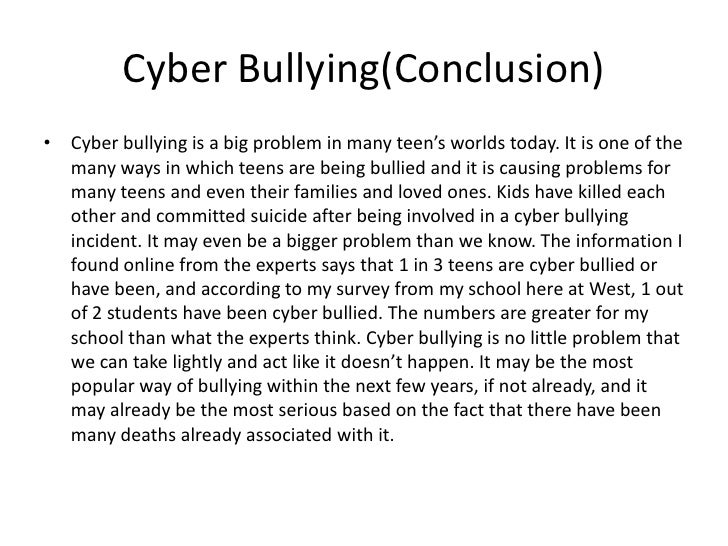 thesis statements on cyber bullying Cause & effect essay: bullying most people know that bullying is wrong calling  cyberbullying has subsequently led to a rise in a completely new kind of bullying.