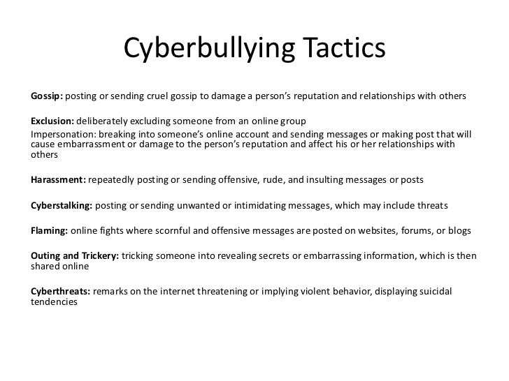 cyberbullying powerpoint cyberbullying