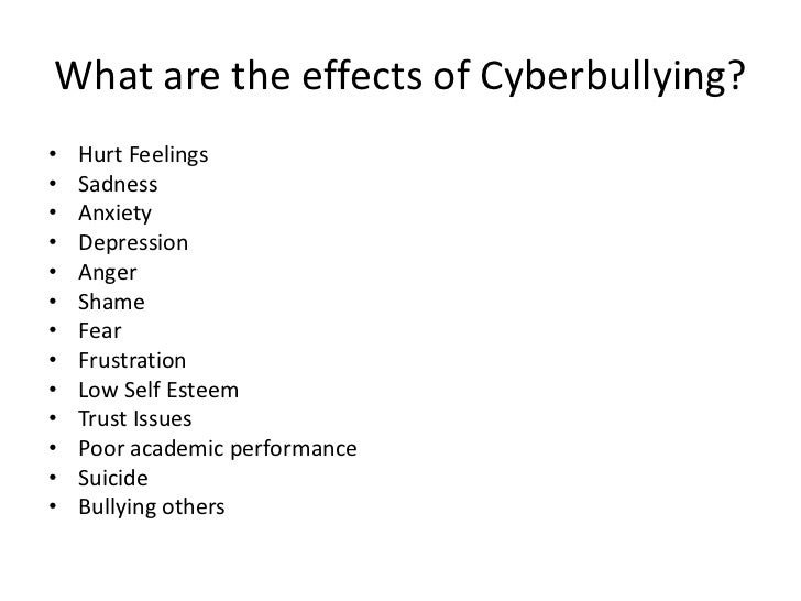 Effects of cyber bullying criminology essay