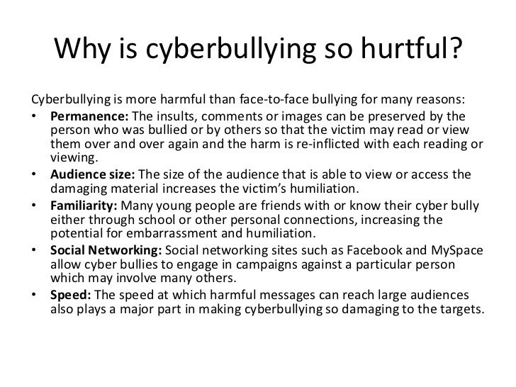 cyberbullying powerpoint bullying others 6 why is cyberbullying