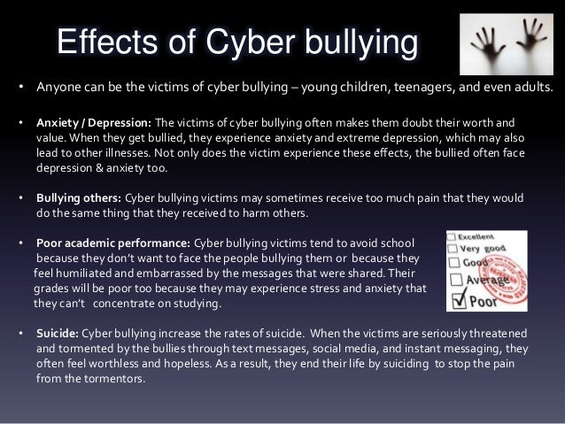 Effects of bullying on the victim essay