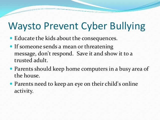 cyber bullying slide share