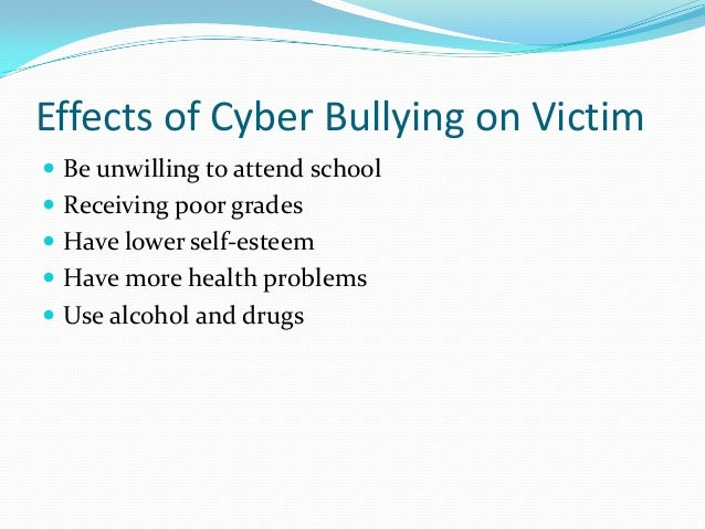 Impact of cyberbullying on victims