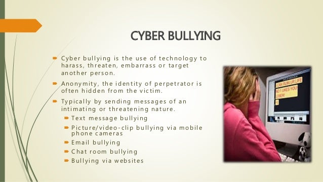 cyber bullying creating a culture of Cyber-bullying: issues and solutions for the school, the classroom and the home new york: routledge keith, s, & martin, m e (2005) cyber-bullying: creating a culture of respect in a cyber world reclaiming children & youth, 13(4), 224-228.