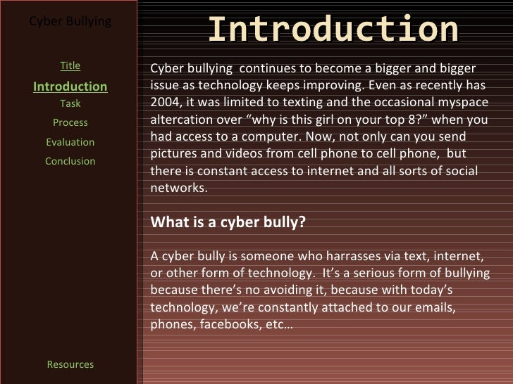 an introduction to the improving cyberspace Use our educational technology resources to enhance your lessons and engage your students you will also find tips and tricks regarding internet safety and the best plan to help your students avoid cyberbullying give students a general introduction to rain fores.