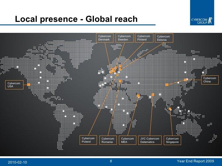 Cybercom Group: Local Presence, Global Reach - Presentation of Year E…