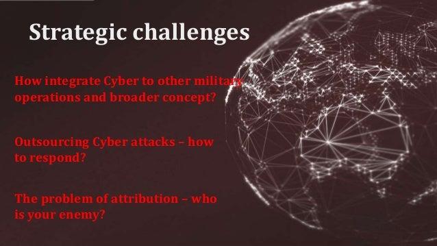 1. Cyberattacks, cyber-espionage 2. Counterintelligence 3. Terrorism 4. WMD Profiliferation 5. Counterspace