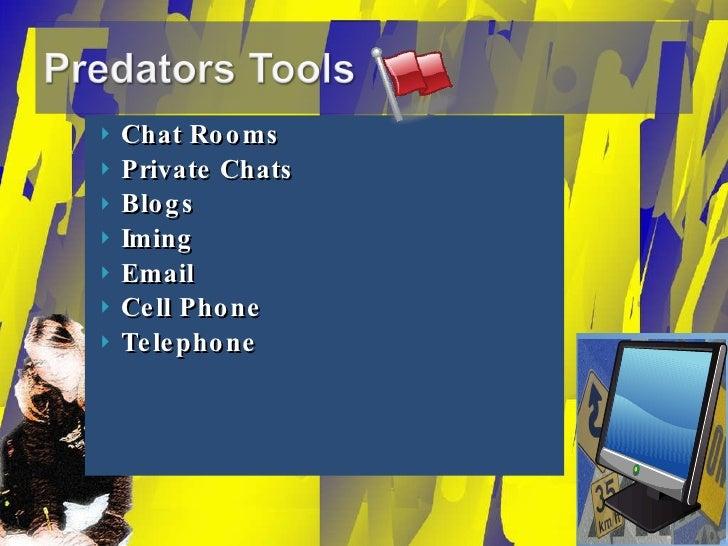 <ul><li>Chat Rooms </li></ul><ul><li>Private Chats </li></ul><ul><li>Blogs </li></ul><ul><li>Iming </li></ul><ul><li>Email...