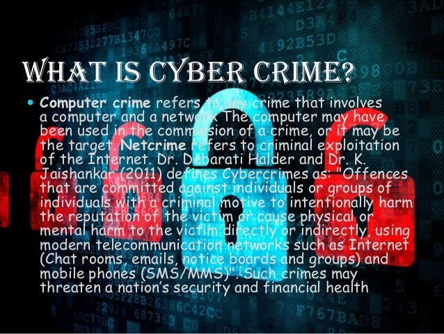 cyber crime Ask anyone involved in fighting cyber crime on a daily basis about what  businesses should know, and the first thing they will say is that no organisation is .