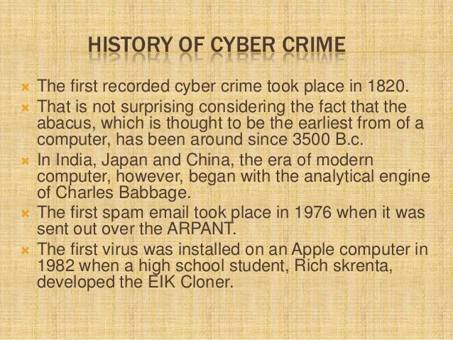 cyber crime research paper outline This research paper aims to discuss following aspects of cybercrimes: the   which disallows cybercrimes and outlines suitablepenalties for those crimes.