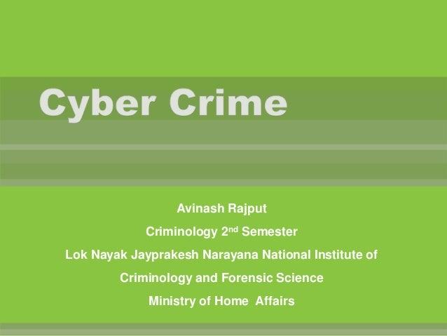 Avinash Rajput Criminology 2nd Semester Lok Nayak Jayprakesh Narayana National Institute of  Criminology and Forensic Scie...