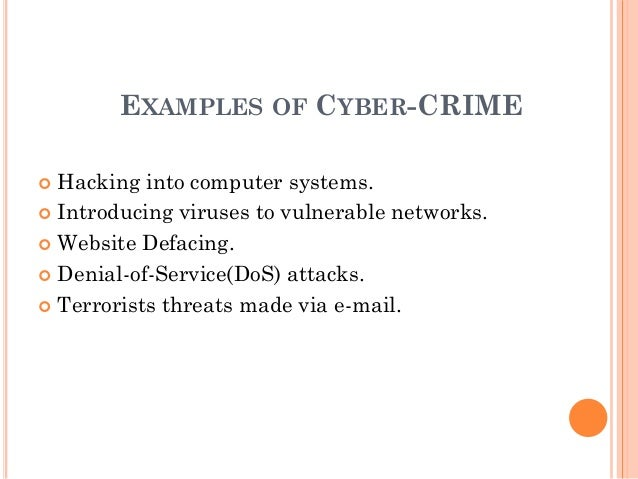 Computer & Internet Crime Research Paper Starter