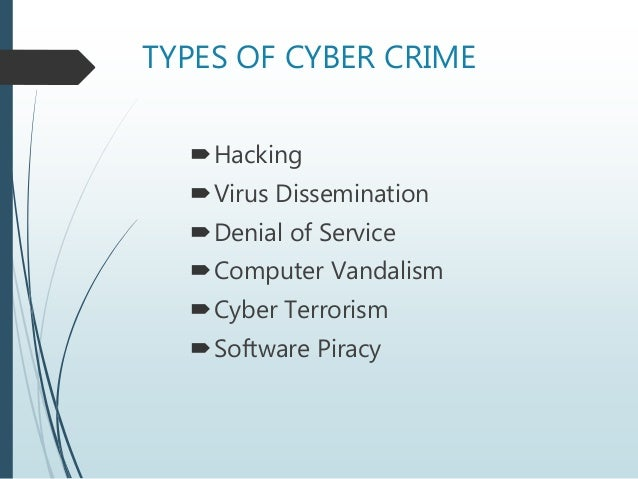 cyber crime 7 types of cyber