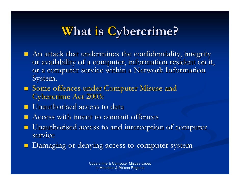 perception of cybercrime and computer related deviancy
